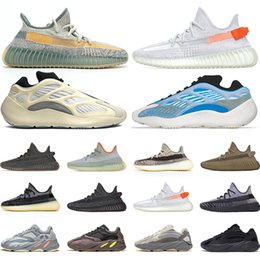 Luces de corredores online-Adidas kanye west Shoes Hombres Mujeres Zapatos para correr Pharrell Williams Solar Pack Negro Blanco Hombres Entrenador Athletic Sport Sneaker Venta al por mayor