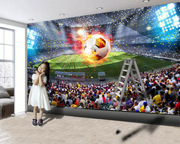 2021 wallpapers de futebol 3d Mural 3D Wallpaper Stadium Wallpaper Modern Super Grande Ten Thousand Football Impressão Digital HD decorativa bonito Wallpaper