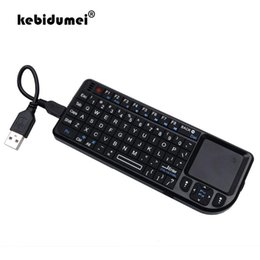 2020 2.4g rf mini teclado sem fio 2.4G RF mini-teclado sem fio Espanhol / Russo / Inglês 3 em 1 mini-Handheld Qwerty + Touchpad mouse para PC Notebook Smart TV 2.4g rf mini teclado sem fio barato