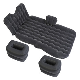 Assento da cama on-line-Travel Car Bed Back Seat Air Sofá inflável Colchão Multifuncional Pillow Outdoor Camping Mat Almofada Universal Big Size
