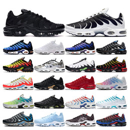 Aperti sport online-2020 tn plus running shoes mens White Volt black Hyper Psychic blue Oreo Purple womens Breathable fashion sports sneakers trainers outdoor