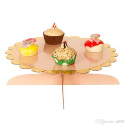 einweg-kuchen steht Rabatt Geburtstags-Party-Dekoration Dessert Rack-einschichtiges Papier Runde Mulitcolor Einweg-Eco Friendly Kinder Cake Stands Produkte3 96wc E1
