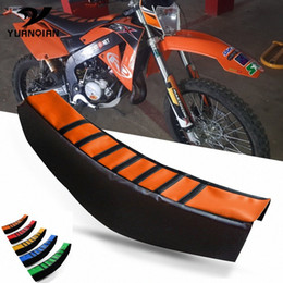 Pitbike Grip Set Orange Black Contoured Soft Touch 110cc 125cc 140cc Motorcycle