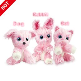 Animali russi online-23x20x7CM Scruff un Coniglio Luvse peluche giocattoli da bagno il gatto del cane Russian Doll Bambino regalo 3colors peluche Speelgoede Stuffed Animals Stiche