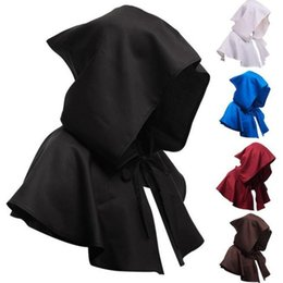 Calções de morte on-line-Halloween Morte Cabo curto com capuz Assistente Manto Witch Medieval Capes Unisex Cosplay Morte Cloaks Halloween Costume Decoração OWF1067