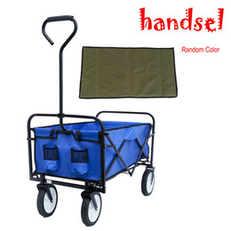 Carro online-Folding Wagon Garden Shopping Beach Cart (Blue) W22701512