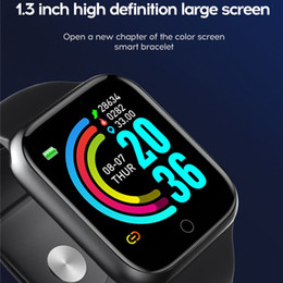 Touch screen android online-Y68 PLUS Fitness Tracker Fashion Call Watch Smart Plus Bracelet Bracelet Wristband 1.54 pollici Full Touch HD GRANDE SCREEN SHEART Monitoraggio