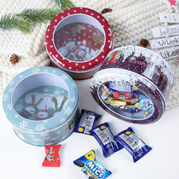Imprimir lata on-line-Doces do Natal Presente Tin Box caçoa o presente Mailbox Caso Papai Noel do Natal do boneco de neve impresso Jar Sealed caixas de embalagem Decor