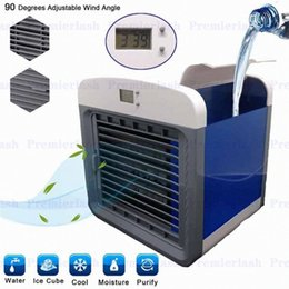 DHL free USB Mini Portable Air Conditioner Arctic Air Cooler Humidifier Purifier 7 Colors LED Light Personal Space Air Cooling Fan car mblX#