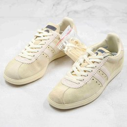 chaussures de bande de balle Promotion 2020 New Sneakers Beige Portrait Bubble Eye Band Co-Branded Oasis Band Liam Gallagher LG SPZL Hommes Spezial Femmes Chaussures Casual 36-45