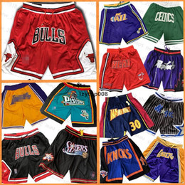 Shorts guerreiros on-line-Chicago Bulls Los Angeles Houston Rockets Apenas Orlando Shorts Magia Toronto Raptors Basketball Ouro 76ers homens Grizzlies State Warriors Don