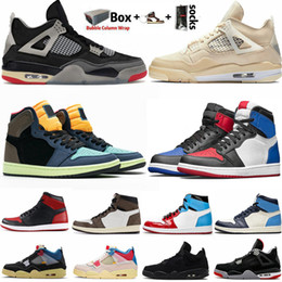 Chaussures de marque en Ligne-air Jordan Retro 1 High OG Travis Scotts chaussures de basket-ball Spiderman UNC top 3 1s Hommes Hommage à Home Royal Bleu Hommes Sport Designer Baskets Sneakers