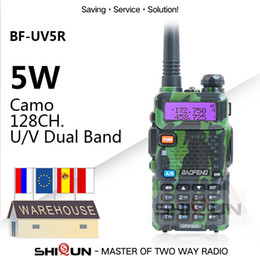 2020 baofeng uv 5r uhf vhf 1PC / 2PCS Baofeng UV5R Walkie Talkie Camo Dual Band UV5R portátil 5W Ham UHF VHF Radio Rádios Two Way UV 5R HF Transceiver UV-82 desconto baofeng uv 5r uhf vhf