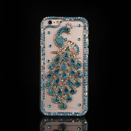 2021 caixa do telefone do diamante do pavão Pavão Rhinestone Case para iPhone 11 Pro Max Bling Diamante Telefone Capa Capa Para iPhone Xs Max XR X 8/7 6S / 6 PLUS 5S