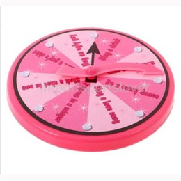 Spinner pink on-line-Bachelorette Party Game Hen Spinner Fun Acessório suprimentos para adultos noite Beber rosa Compass Truth Or Dare 3 8Mt Hh