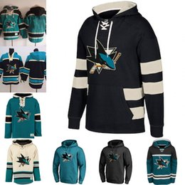 Camisola masculina em branco on-line-65 Erik Karlsson Men's San Jose Sharks Em Branco Custom Jersey Hoodie Authentic Hoodies Jerseys Inverno Camisolas