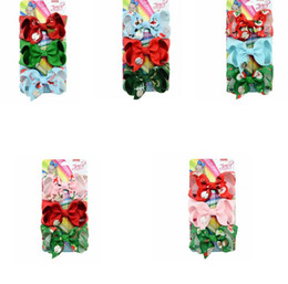 presente de natal para bebês Desconto 3pcs 1 set Christmas JoJo Hair Clip Colorful Snowman Santa Claus Hairpin bowknot baby girls Hair Barrettes set Xmas Gift KKA8015