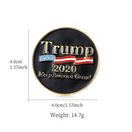 2020 5 broche  Style 5 Trump Broche Pins Lettre strass Brillante Glitter Broches Femmes Mode Crystal Heart Pins Party cadeau GWE862 promotion 5 broche