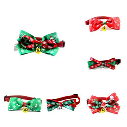 2021 decorazioni calde cane Hot Pet Bow Ties Cane Bow Ties Collar Accessori Cat Bow Tie Christmas Dog Collars Pet Forniture Decorazioni natalizie T2i51515