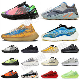 picos de basquete Desconto Kanyes Wests 700 Sapatos Azareth Srphym Trainers Tamanho 12 Azael Alien Azul Runner Running Mens Womens Vanta Bone White Sneakers