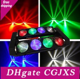 Quad cree on-line-Rgbw 8x10w Quad 4in1 Cree Led Moving Head Beam Spider Bar Effect Led Disco Light Free Shipping