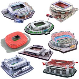 football modèle 3d Promotion Foodball 3D Puzzle World Stadium Football European Playground Football Assemblé Modèle de construction Puzzle jouets pour les enfants
