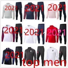 soccer tracksuit adult Desconto Real Madrid Portugal Paris 2021 chandal nike hazard psg jordan real madrid liverpool ajax hazard france paris soccer chandal Fc Barcelona