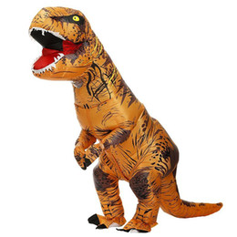 2021 enfants costume de mascotte de halloween T REX gonflable Dinosaur Costume partie costumes cosplay Fantaisie mascotte Anime costume d'Halloween pour les enfants adultes Dino Cartoon