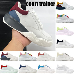 Bester orange laufschuh online-Best Court Trainer Sneakers Multi-Color White Black Orange Rot Braun Grün Glow in der dunklen Mode Männer Frauen Plattform Laufschuhe