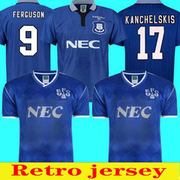 2021 jersey everton 1995 Fußballschale Retro Final Hemd Everton Football Club 1987 88 Home Jersey Hemd Jersey Kanzelskis Ausgang Horne Futebol