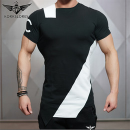 Camisetas de largueros online-2020 Summer Casual Gyms Body Engineers Stringer T-shirt Man Gyms Bodybuilding And Fitness Crime cotton Short Sleeve T-shirs