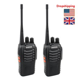 Talkie bf 888s on-line-Estoque em US UK 2 PCS BF-888S Baofeng Walkie Talkie Dropshipping 5W Two Way Radio UHF 400-470MHz Frequency portátil Custo Pofung eficaz