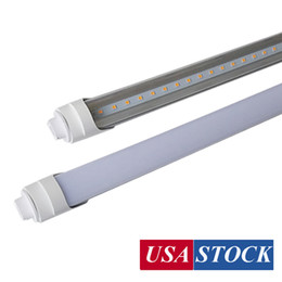 "Luzes led on-line-Pino único Pin R17D Base LED Shop Light 96 ""Polegadas Bulbos da porta do refrigerador 8FT 45W 72W T8 LED Tubo Luzes 8 Pé Fluorescente Tubo Substituição De Substituição"