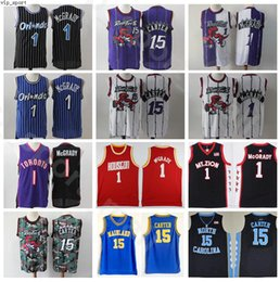 tacchi di catrame Sconti Tacchi Tracy McGrady maglie Vince Carter North Carolina Tar College di Vintage Basketball MT.ZION Christian Florida Daytona Beach Mainland