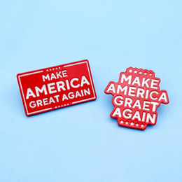 Fare i distintivi online-Trump Brooch Trump 2020 Make America Great Again Badge US Presidential Election Badge Party Supplies Party Favor CCA12460 200pcs
