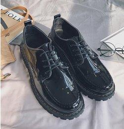 Oxford Shoes Black Platform Canada