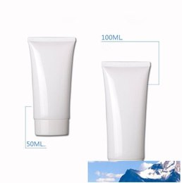 US $65.0  100ml white Empty soft mildy wash butter handcream tube Storage Travel Cosmetic Hand Cream Lotion Containers Bottle container bottle lotion