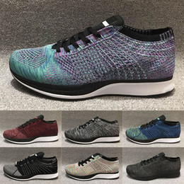 Fliegen gehen online-Fly Racer Trainers Mens Running Shoes Knit Triple Red White Black Racer 2.0 Ultra Women Walking Sneakers