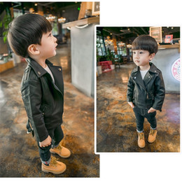 Details about Children Winter Fur Coats Kids Boys Fashion Punk Lapel Thicken Motorcycle Coat