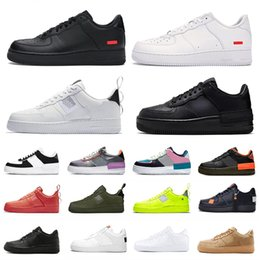 2020 shoes casual Nike Air Force 1 AF1 Just do it Stock X Cheap High Low Cut utility black 1 Running Shoes Classic Men Women Skateboarding 1s White Wheat Trainer sports Designer Sneakers дешево shoes casual