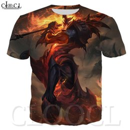 2020 league of legends camisetas Verão dos homens / mulheres camiseta jogo League of Legends heróis T-shirt Casual manga curta Harajuku Popular 3d Imprimir Tops Streetwear league of legends camisetas barato