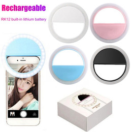 Lampade led ricaricabili online-RK12 ricaricabile LED selfie Light Ring Per Iphone11 universale selfie lampada obiettivo mobile telefono portatile Flash Ring per Smart phone