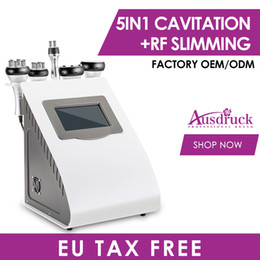 máquina reafirmante de cuerpo Rebajas Effective Strong 40K Ultrasonic cavitation body sculpting slimming vacuum RF skin Firm body lift red photon machine with trolly cooling gel