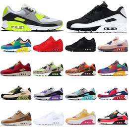 Zapatillas premium online-2020 Nike Air Max 90 Top Fashion women mens 90 running shoes 90 Camo Betrue Premium Viotech Purple sports trainers sneakers