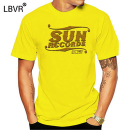 Studi di sole online-Sun Records Elvis Cash Roy Sun Studio Musica Distressed Stampa T-shirt grigia