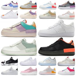 weiß low top schuhe  Rabatt nike air force 1 shadow af1 forces airforce one Plateauschuhe Low High Top Sneakers Shadow Classic Triple White Herren Damen Casual Skate Skateboard Sporttrainer