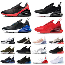2020 tiger sport shoes nike AIR MAX 270 SHOES airmax maxes 270s Triple Black white Tiger Running Shoes olive Training Outdoor Sports air sole cushion Mens Trainers Zapatos Sneakers дешево tiger sport shoes