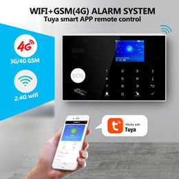 2021 home-screen-steuerung G34 3G 4G WIFI GSM 4G Alarmanlage Tuya App Steuerung Home Security Buglar Alarm 2.4inch Full Touch Screen Panel GSM Farb