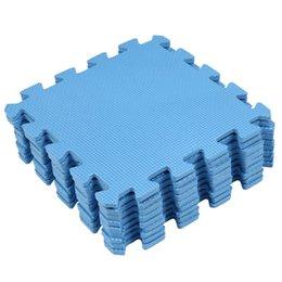 Tapis de sol bleus en Ligne-EVA Puzzle en mousse anti-fatigue Bleu Interlocking Tapis