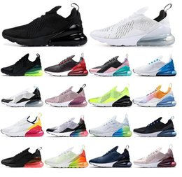Zapatos hombres corriendo logo online-Discount Promotion Nike Air Max 270 Highest quality men shoes breathable running shoes men and women sneakers with logo sports 270 Casual shoes